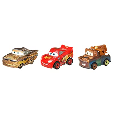Disney Pixar Cars GBN74 Mini Racers Gold Ramone Series 3-Pack, Multicolour: Toys & Games