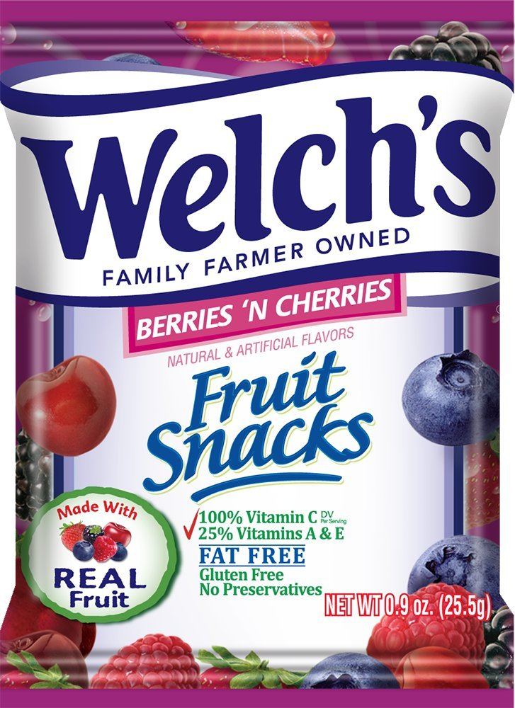 WELCH'S Berries 'n Cherries Fruit Snacks, 0.9 Ounce, 40 Count by Welch's (Image #2)
