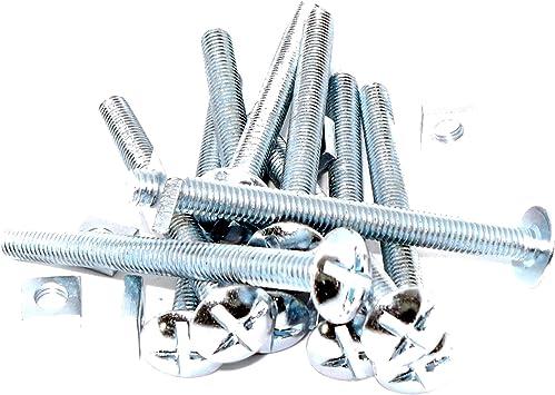 M6 (6 mm x 70 mm) cabeza tornillos y tuercas – acero (Pack de 10 ...