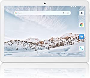 Tablet 10 inch, Android 8.1, 2+32GB Tablets PC, 3G Phablet Unlocked with Dual Slot Card, 1280x800 IPS, GMS Certified, WiFi, Bluetooth 4.0, GPS, OTG - Silver