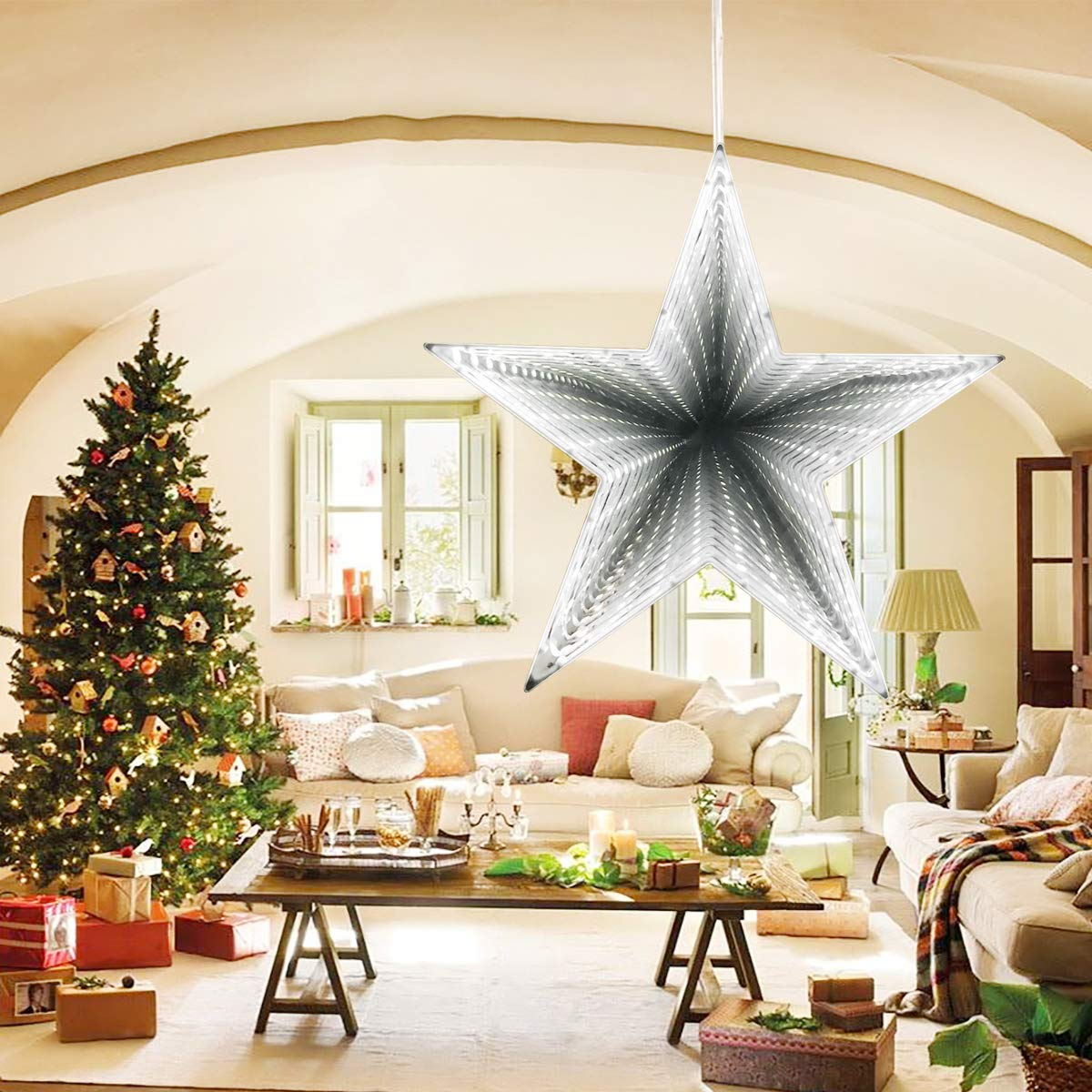 Led Estrella Infinity Para Túnel Luz Navidad YED9WHIe2