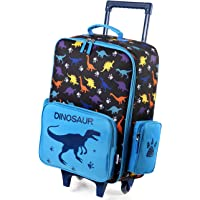 Kids Luggage for Boys,VASCHY Cute Rolling Travel Carry on Suitcase for Toddlers/Children with Wheels 18inch Dinosaur