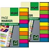 Sigel HN617 Haftmarker Film, micro, 800 Streifen im Format 6 x 50 mm, 2x5 Farben