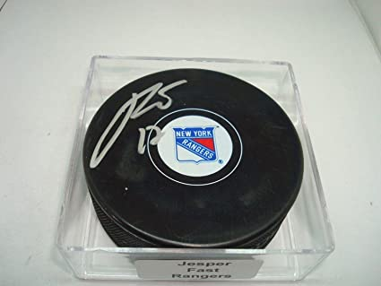 fcc7f8b7f Image Unavailable. Image not available for. Color  Autographed Jesper Fast  Hockey ...