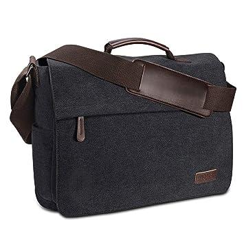 schönen Glanz klassisch sale Umhängetasche Herren aus Vintagem Segeltuch, Premium Herrentasche,  Laptoptasche für 15,6 Zoll Laptop, Schultertasche / Kuriertasche /  Messenger Bag ...