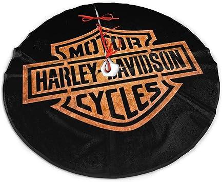 Harley-Davidson Red /& Black Plaid Tree Skirt with Satin Lining HDX-99154