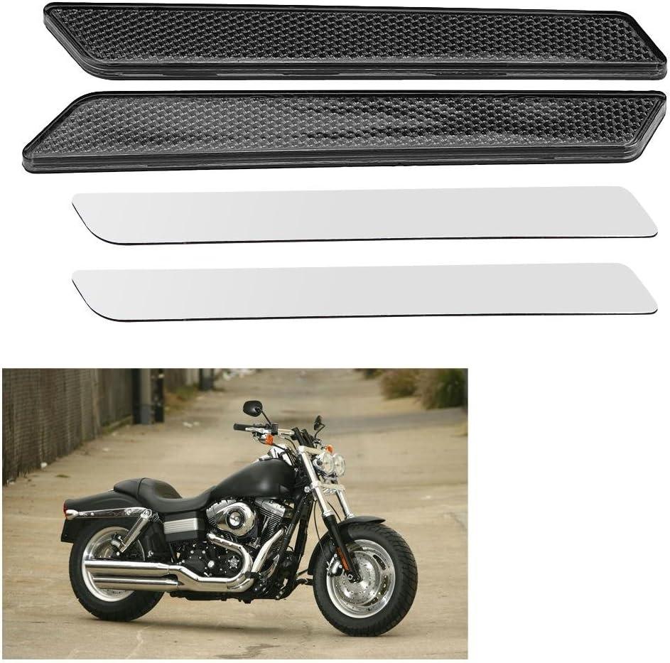 reflectores de la bolsa de alforja del bolso duro Reflectores para FLHT FLT FLHX 2014-2017 Smokey 1 par de reflectores de la cubierta del pestillo de la motocicleta