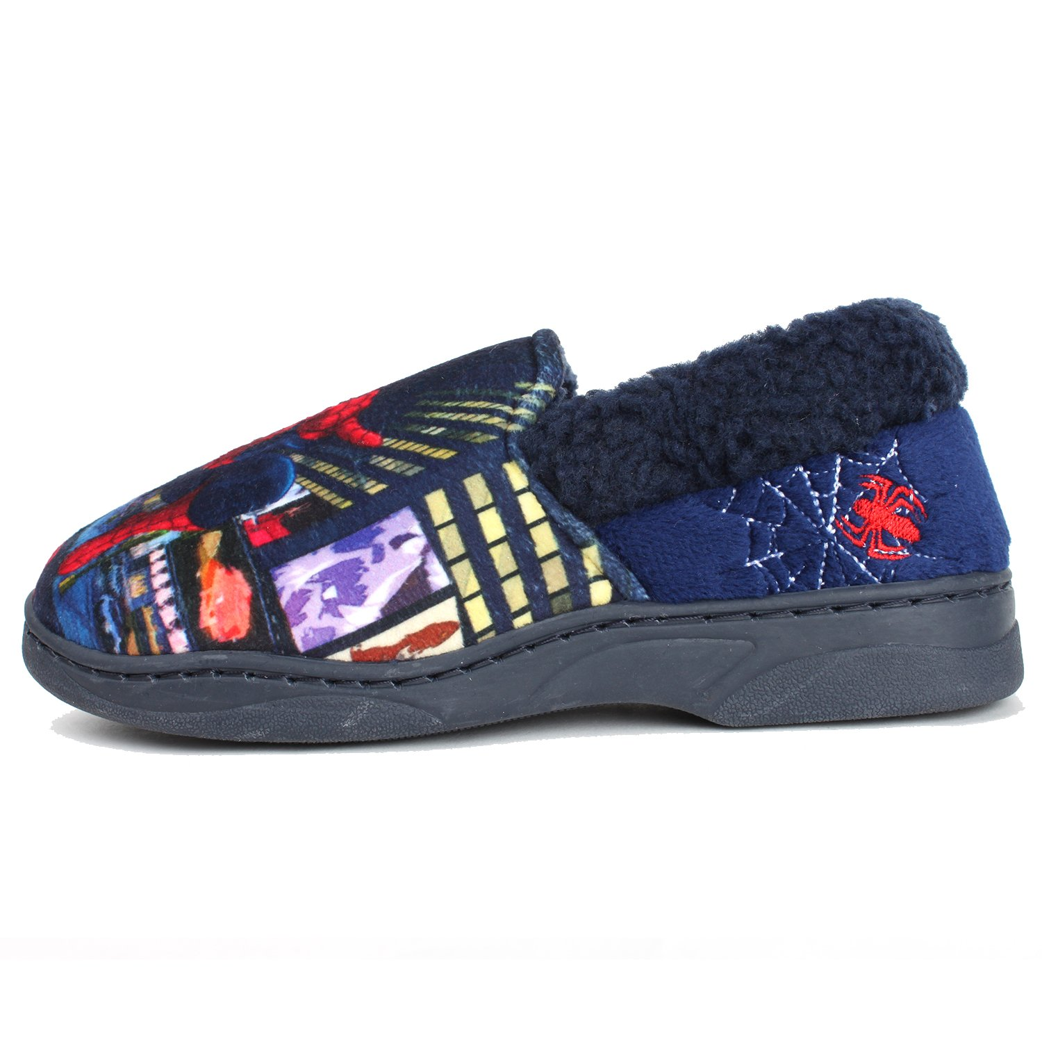 Joah Store Spider-Man Slippers for Boys Navy Red Warm Fur Clog Mule Indoor Shoes (3.5 M US Big Kid, Spider-Man) by Joah Store (Image #5)