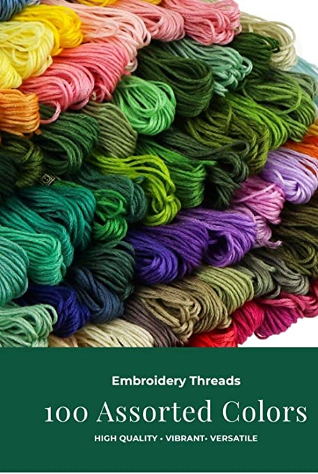 8 Pieces Multicolor Skeins Embroidery Thread Floss Crochet Thread for Sewing