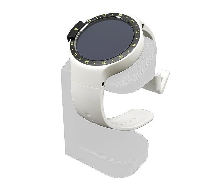 Artifex Design Stand Configured TicWatch ES Smartwatch, Charging Stand, Artifex Charging Dock Stand Tic Watch ES only (White)