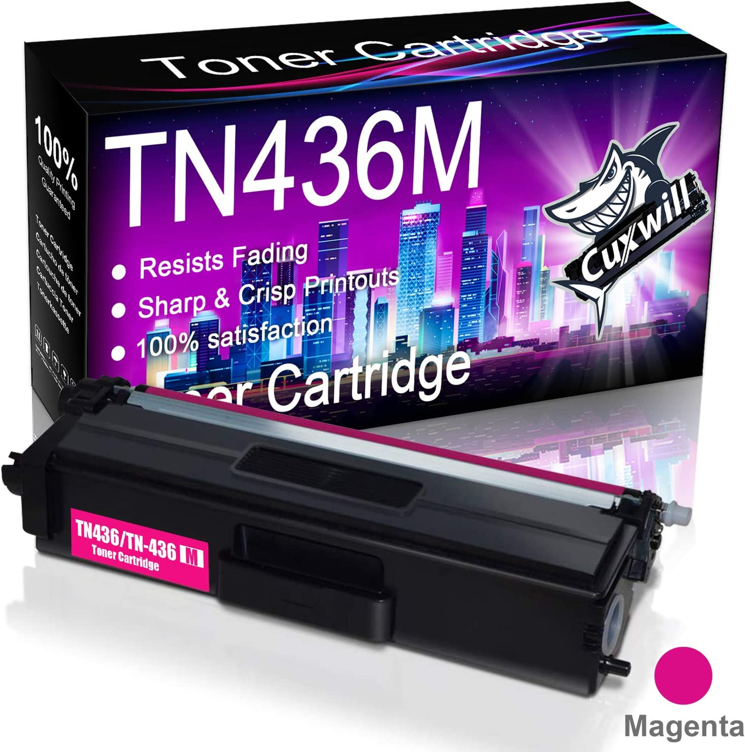 Magenta Replacement for Brother TN431 TN431M Printer Toner High Capacity Compatible HL-L8260CDW HL-L8360CDW HL-L8360CDWT MFC-L8610CDW MFC-L8900CDW Laser Printer Toner Cartridge 2-Pack