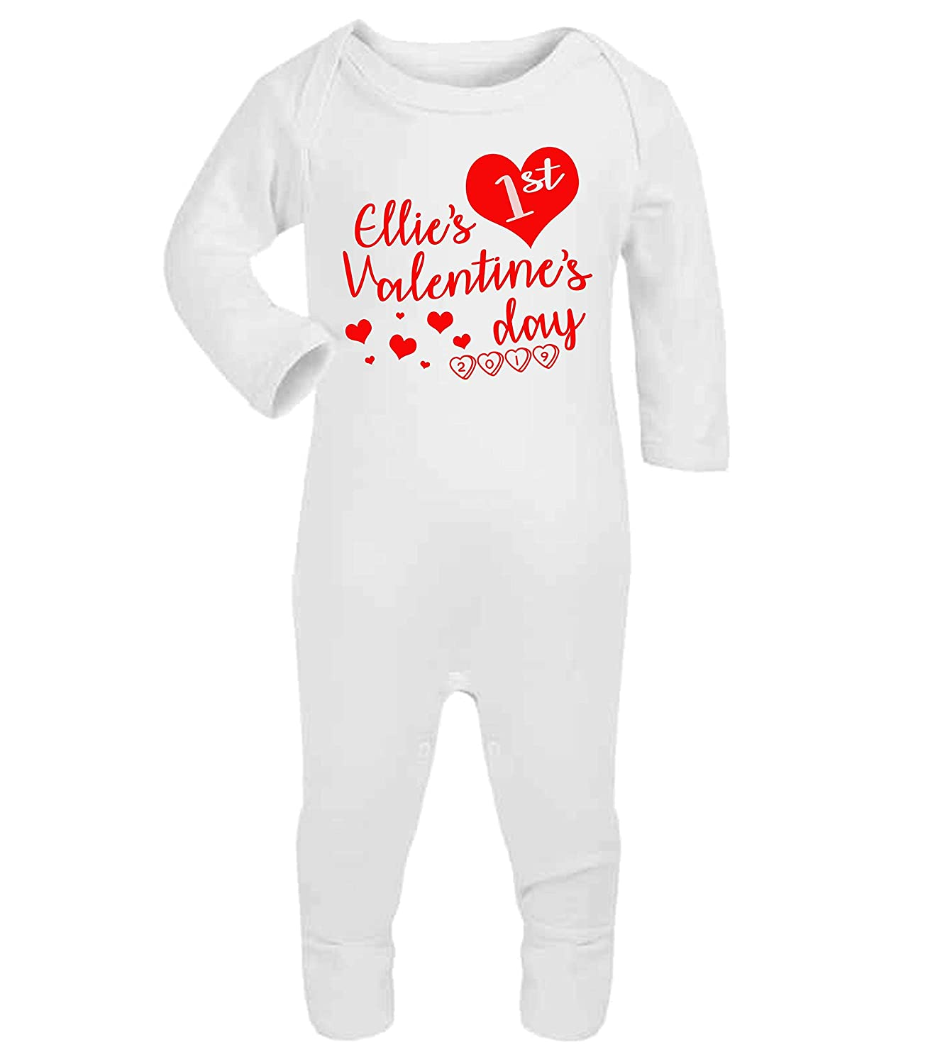 f7a93bbb6 Personalised My First Valentine s Day Baby Romper Baby Gifts ...
