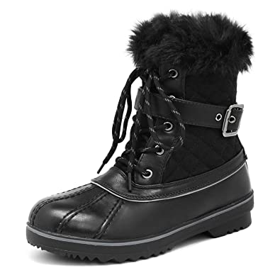 971821365dd DREAM PAIRS Women s River 3 Black Mid Calf Winter Snow Boots Size 5 M US