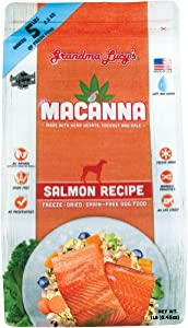 Grandma Lucy's Macanna Freeze Dried Grain Free Salmon Recipe Dog Food 1 Lbs, Model Number: 884308721252