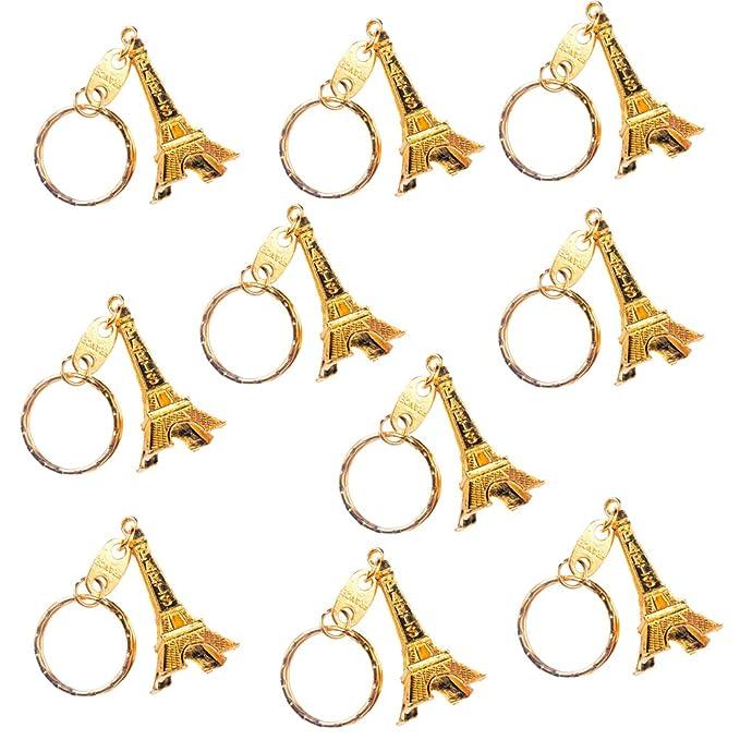 Amazon.com : Qinlee Retro Adornment Eiffel Tower Keychain ...