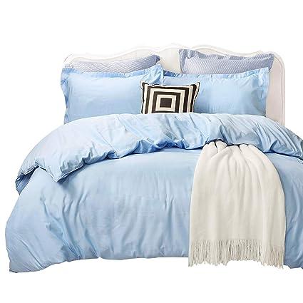 Light Blue Bedding Sets.Tealp Blue Bedding Sets Queen Light Blue Double Duvet Cover 1 Duvet Cover 2 Pillow Cover