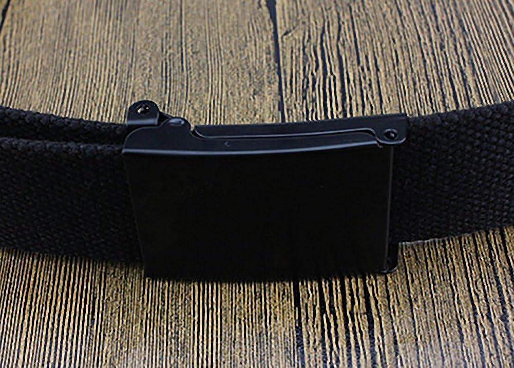 Lona Amarillo Kentop Unisex Pl/ástico Cintur/ón Hombre Mujer Lienzo pl/ástico Cintur/ón Deportes cintur/ón con autom/ática cintur/ón Hebillas 110/×3.8cm