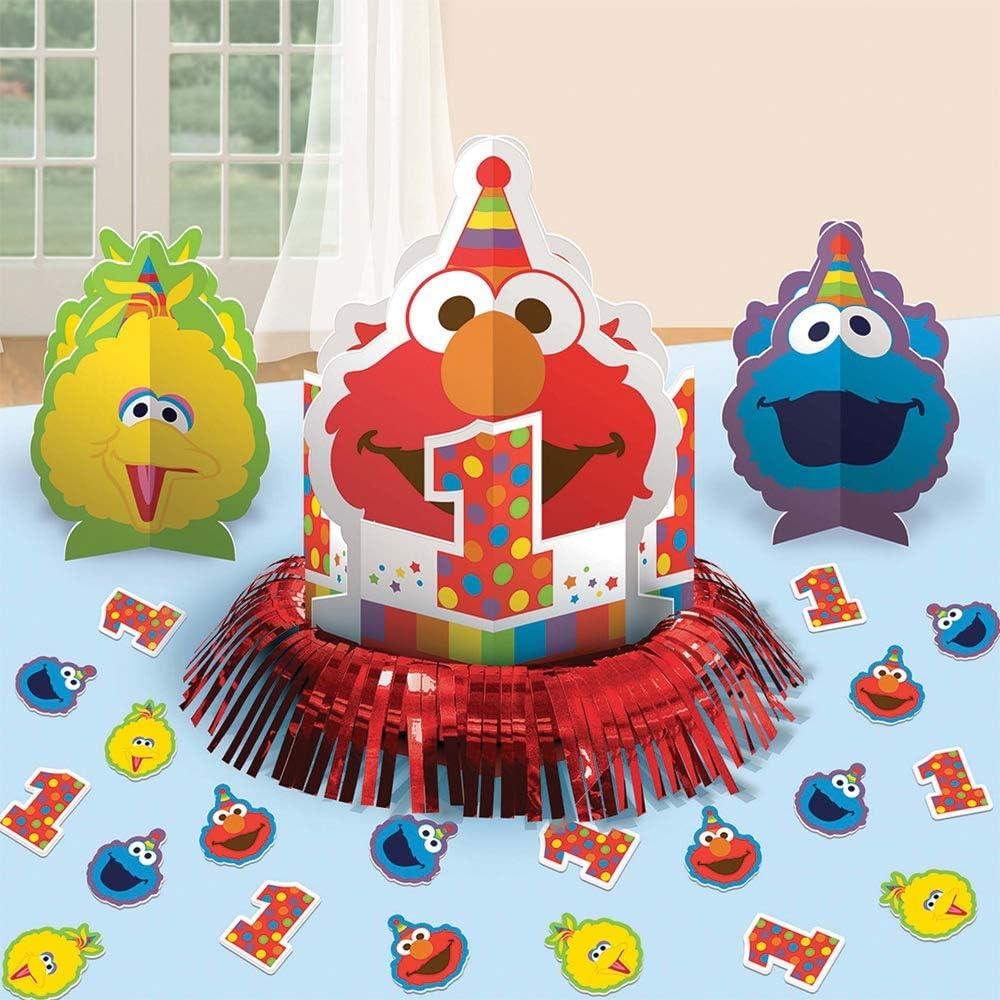 Sesame Street 1st Birthday Elmo Turns One Table Decorating Kit 23pc
