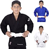 NEW ITEM Elite Sports Deluxe Kids IJF Judo Gi w/ Preshrunk Fabric & Free Belt