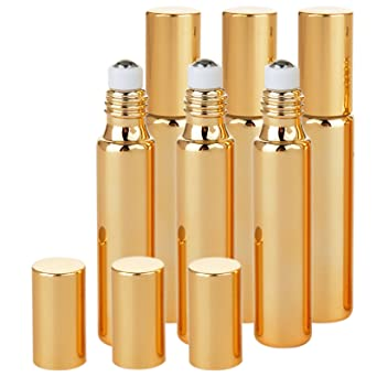 Botellas de cristal de 10 ml para aceites esenciales, rellenable JamHooDirect, incluye abridor de
