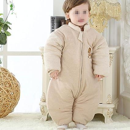 AIBAB Otoño E Invierno Bebé Algodón Algodón De Color Saco De Dormir para Niños Pierna Partida