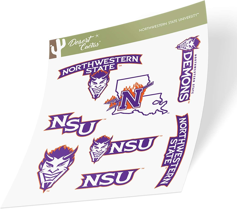 Northwestern State University NSU Demons NCAA Sticker Vinyl Decal Laptop Water Bottle Car Scrapbook (Type 2 Sheet)