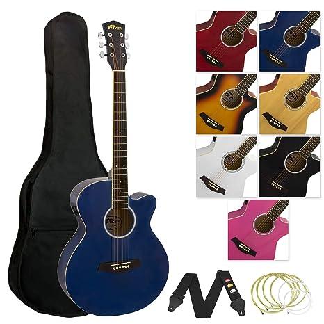 Tiger ACG4-BL - Guitarra electroacústica (incluye accesorios), color ...