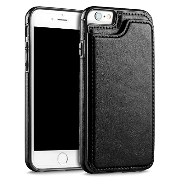 sports shoes b3fa1 d2ff2 UEEBAI Case for iPhone 5 5S SE, Luxury PU Leather Case with [Two Magnetic  Clasp] [Card Slots] Stand Function Durable Soft TPU Case Back Wallet Flip  ...