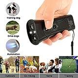 willkey Hond Repeller Ultrasone Handheld Dual-Channel Anti Hond Blaffen Apparaat 3 In 1 Hond Training Tool Met LED Zaklamp