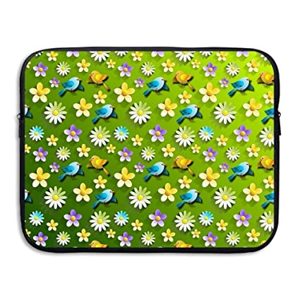 Image Unavailable. Image not available for. Color  Laptop Sleeve Bag  Florals Birds Cover Computer ... 4f1718614547e