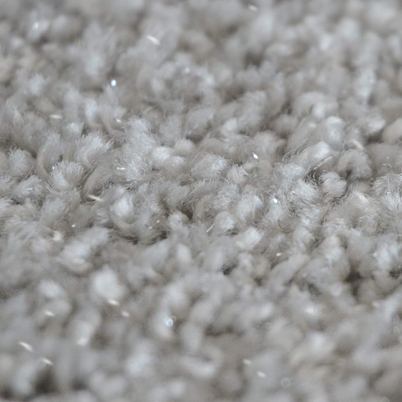 Casa pura Stufenmatten-Set Memphis Memphis Memphis   viele Varianten   mit eingewebten Glitzerfäden   kombinierbar mit passenden Läufern   Silber - Halbrund - 15 Stück Set B07GSSTPBH Stufenmatten 12b02a