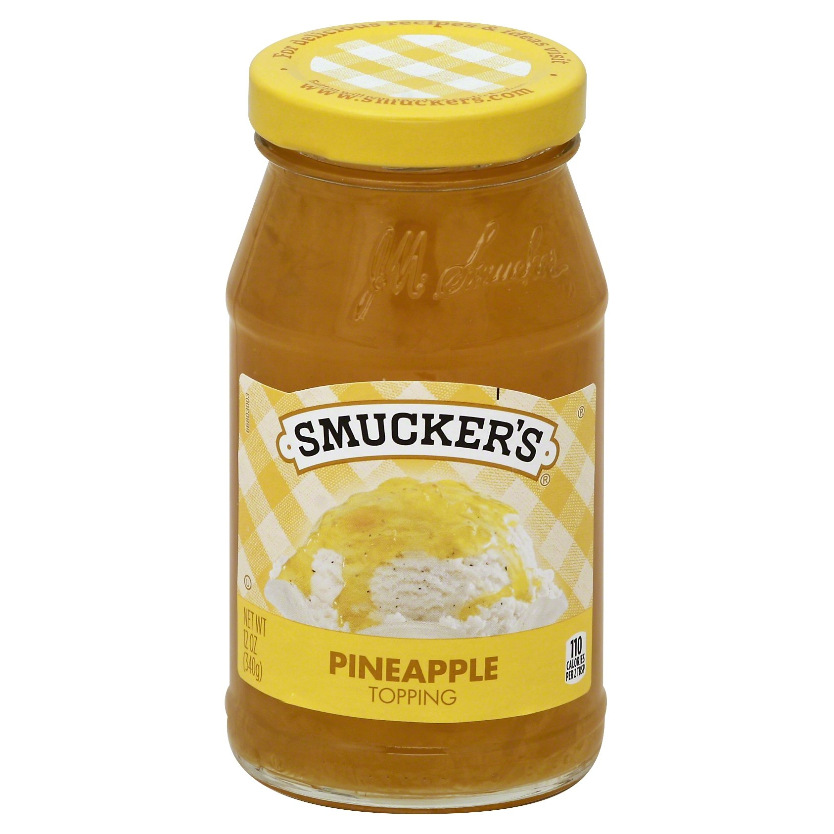 Smucker's Pineapple Spoonable Ice Cream Topping, 12 oz