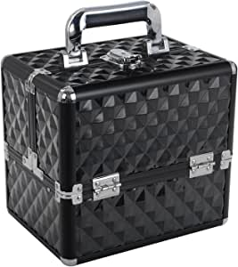 Large Makeup Case Vanity Cosmetic Storage Organizer Bag Make up Cases Black