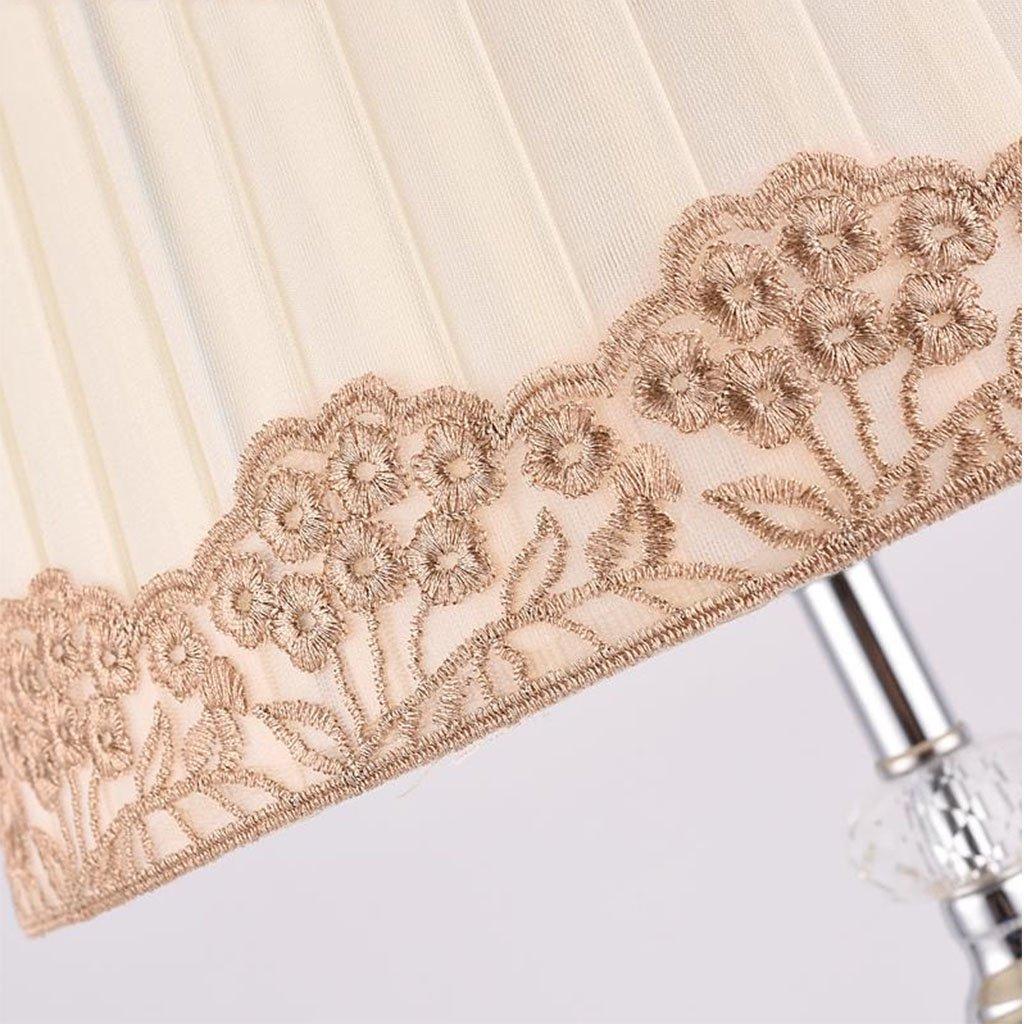 Briskaari Store- Modern Crystal Lamp Lighting Bedroom Bedside Lamp Luxury Crystal Desk Lamp with Cloth Lamp Shade by Briskaari Store (Image #6)