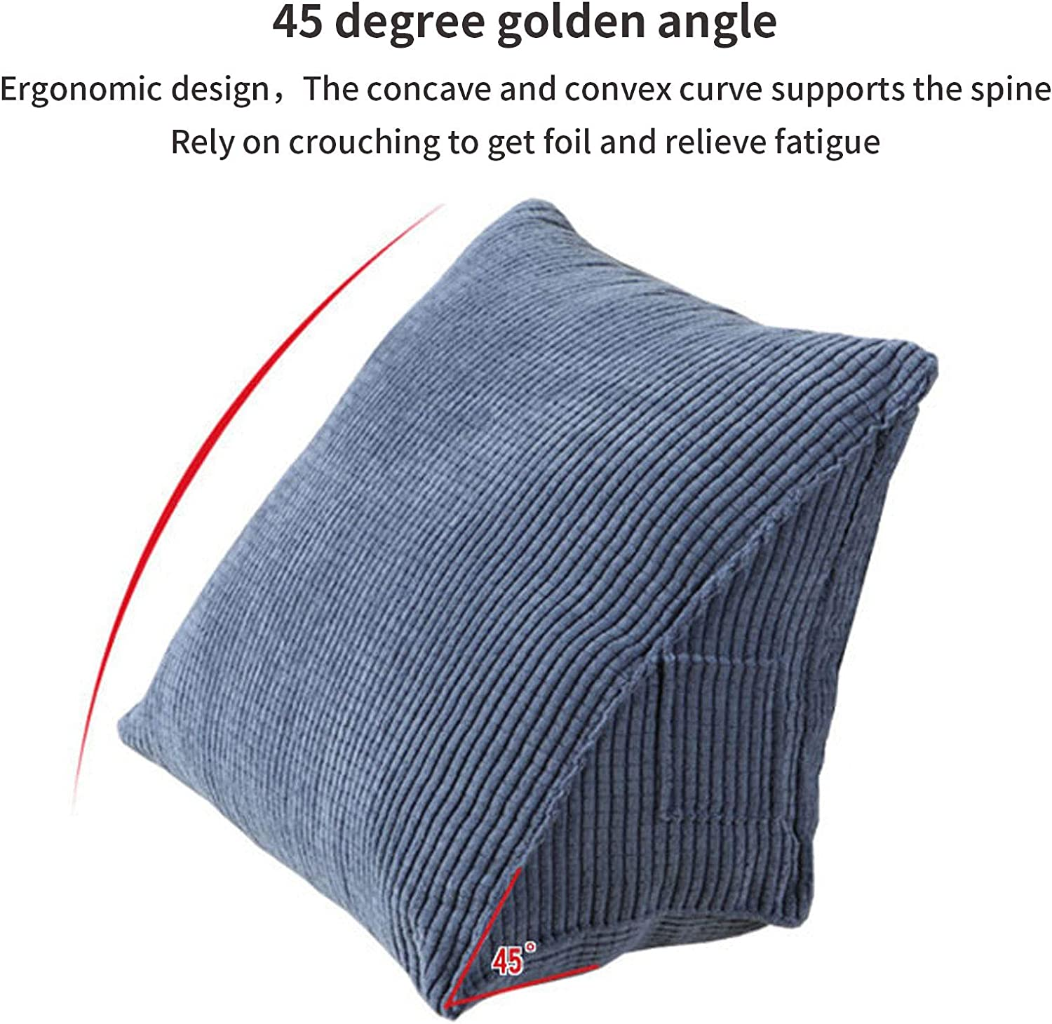 Nutteri Triangle Back Cushion Corduroy Wedge Soft Reading Pillow Backrest Positioning Support Pillows for Office Home Bed Sofa Chair (Coffee, 15.7×14.2×7.9 inch): Kitchen & Dining