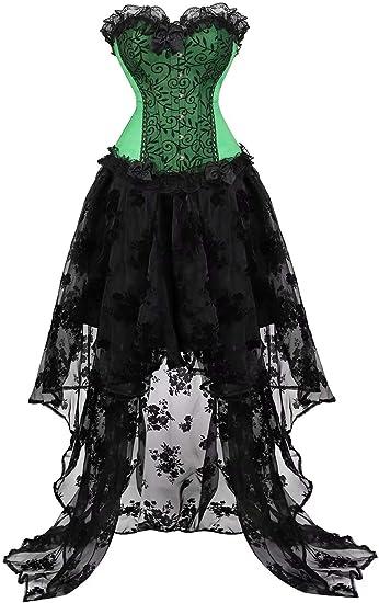 Disfraz Vestido Corset Mujer Elegantes Falda Vestidos Lingerie ...