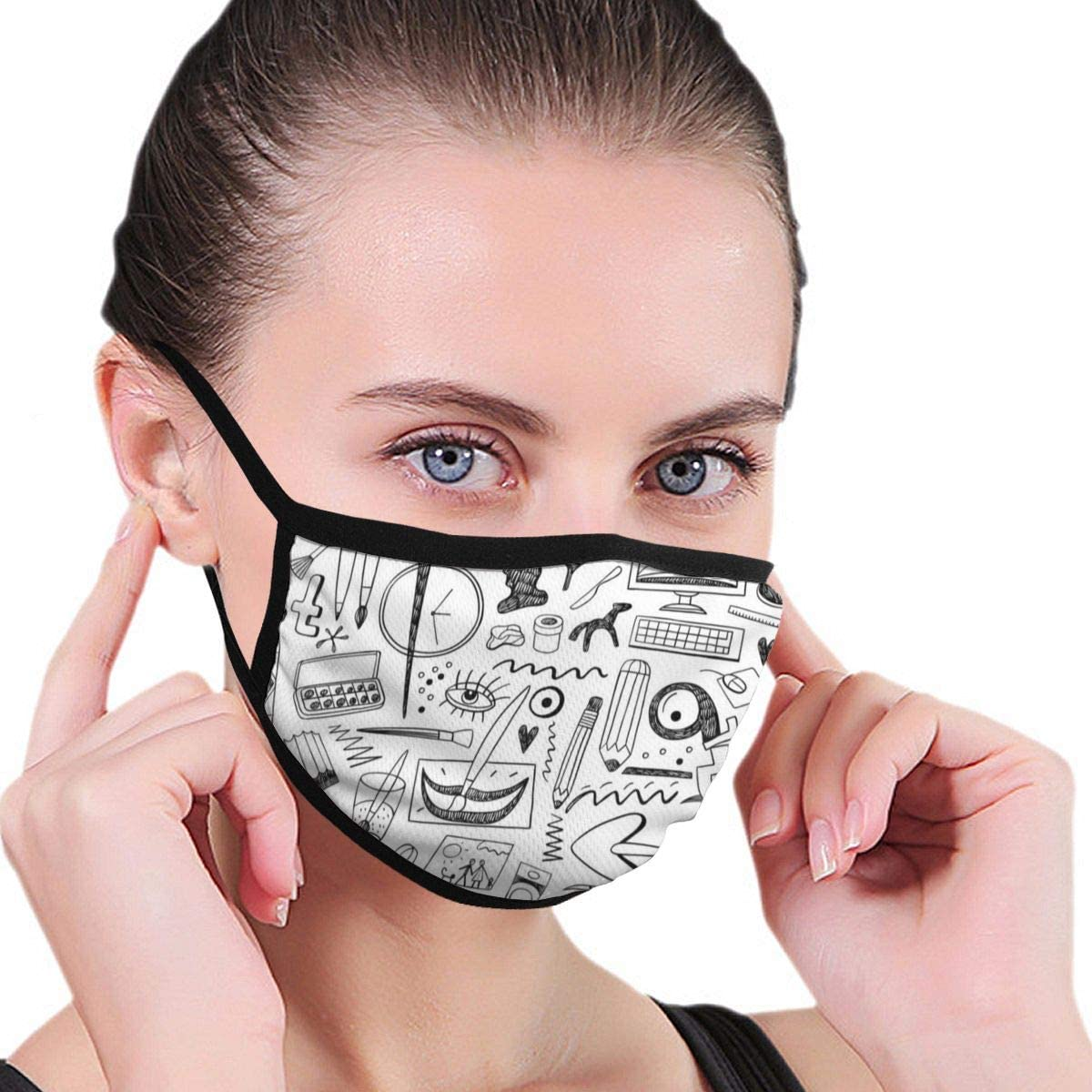 Herramientas de Arte Fondo Transparente Vector Image_1287Máscara Facial Unisex Negra Mascarilla antipolución Mascarilla Antipolvo Reutilizable Máscaras para Ciclismo Camping Travel