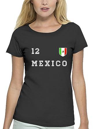 Mexico Fußball WM Fanfest Gruppen Premium Bio Baumwoll Damen Frauen T-Shirt  Stanley Stella Trikot Mexiko: Amazon.de: Bekleidung