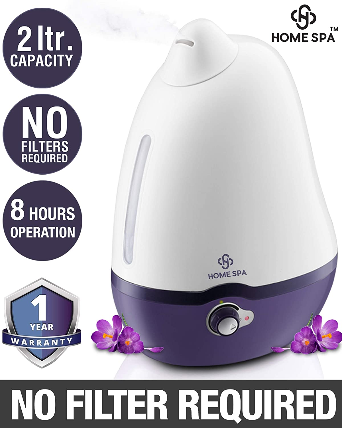 Home Spa Luxury Cool Mist Dolphin Humidifier for Adults and