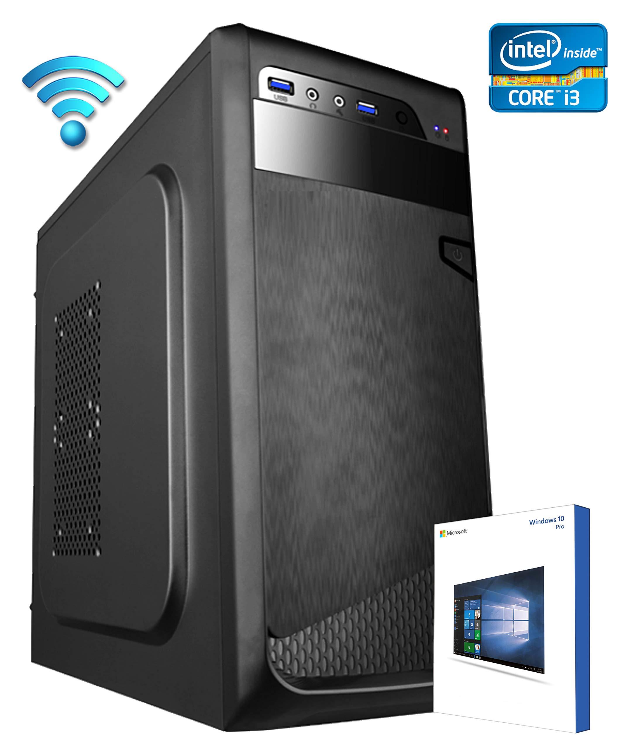 2a51fe89edccb3 PC DESKTOP COMPUTER FISSO▭LICENZA WINDOWS 10 PRO▭ASSEMBLATO COMPLETO Intel  KABY LAKE i3-8100 3.60 GHZ▭Intel® HD 630 4K▭RAM 8GB▭SSD + HD ...