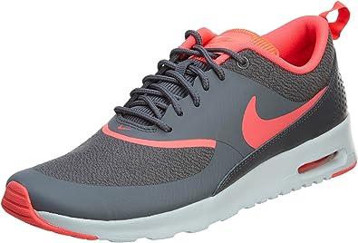 Descripción del negocio Búho Complejo  Zapatillas Nike Air Max Thea para mujer, color gris oscuro/platino  puro/Hyper Punch 12 B, tamaño mediano: Amazon.es: Amazon.es