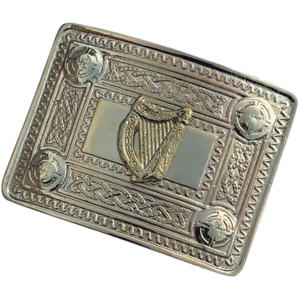 Men/'s Celtic Kilt Belt Buckle Irish Harp Antique//Chrome//Gold Finish//Kilt Belt Buckle Celtic