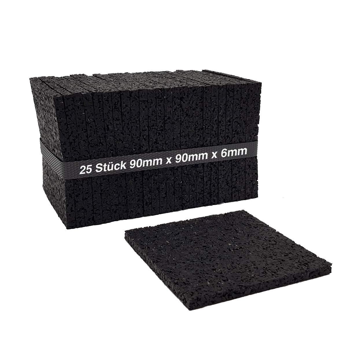 Lot de 256mm terrassenpad, terrassenpads, terrasses Construction en granulés de caoutchouc my-plast
