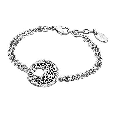 b12d8a6685b2 Lotus Style pulsera para mujer privilege-colección acero plata negro  colgante negro wohnideenshop JLS1721-2 - 2  LOTUS Style  Amazon.es  Joyería
