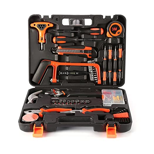precision tools. tool kit, leshp precision tools 82 piece diy home household set with combination pliers v