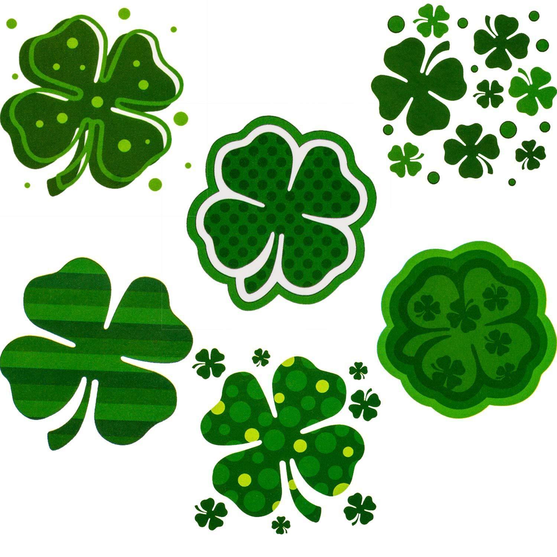 St Patricks Day Tattoos-6 Unique Sheets-72 Pcs St Patricks Day Stickers Party Supplies Decorations Irish Tattoo Sticker Clover Tattoos