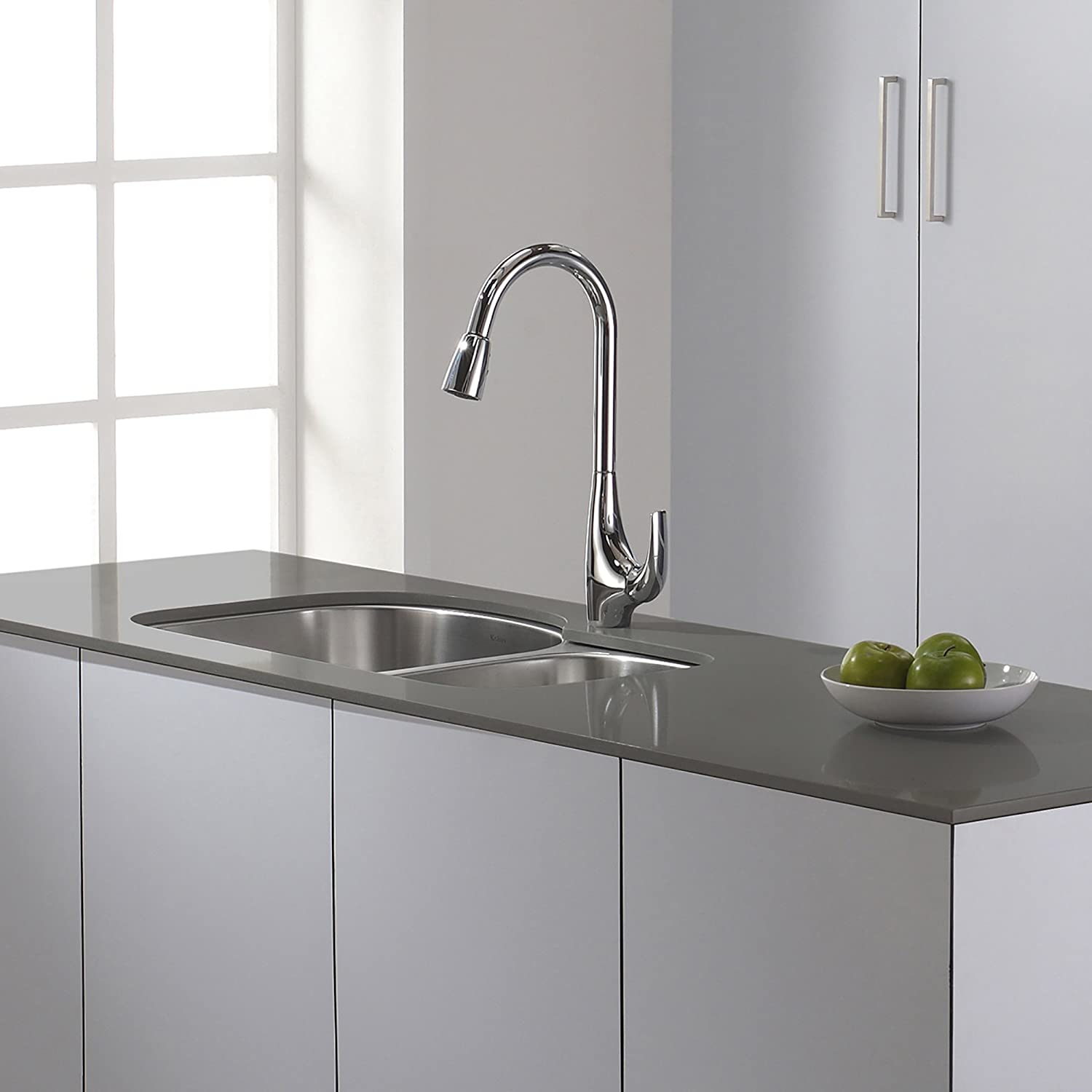 Kraus KPF-1621 Single Lever Pull Down Kitchen Faucet Chrome - Touch ...