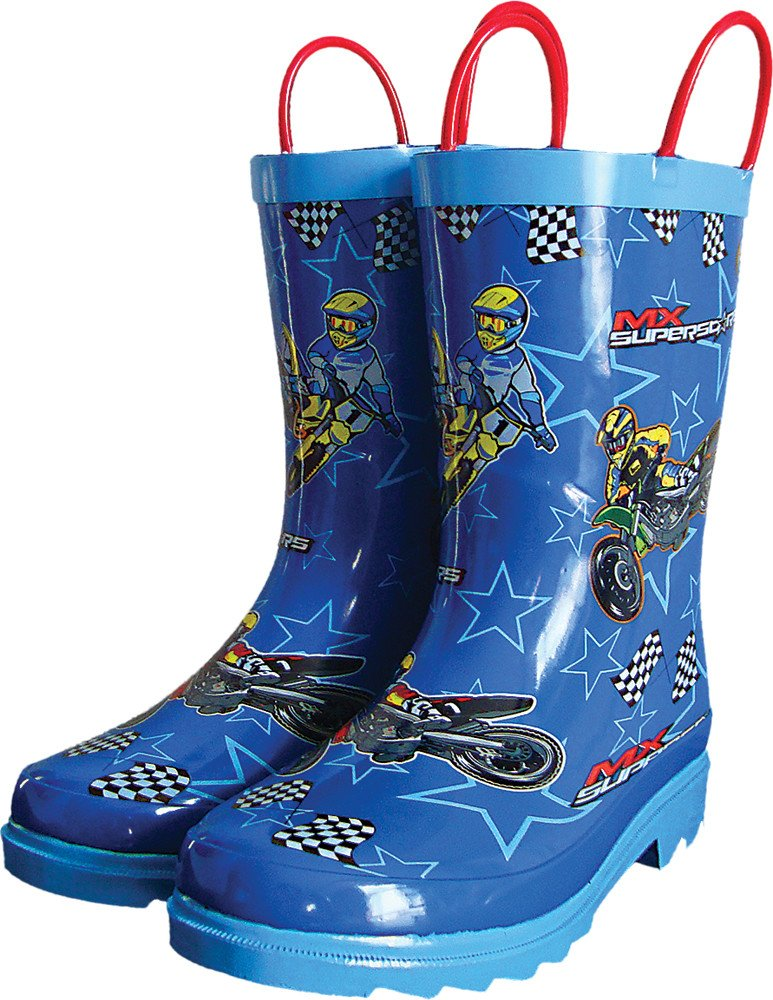 Smooth Industries MX Superstars Youth Rain Boots (9) (BLUE)