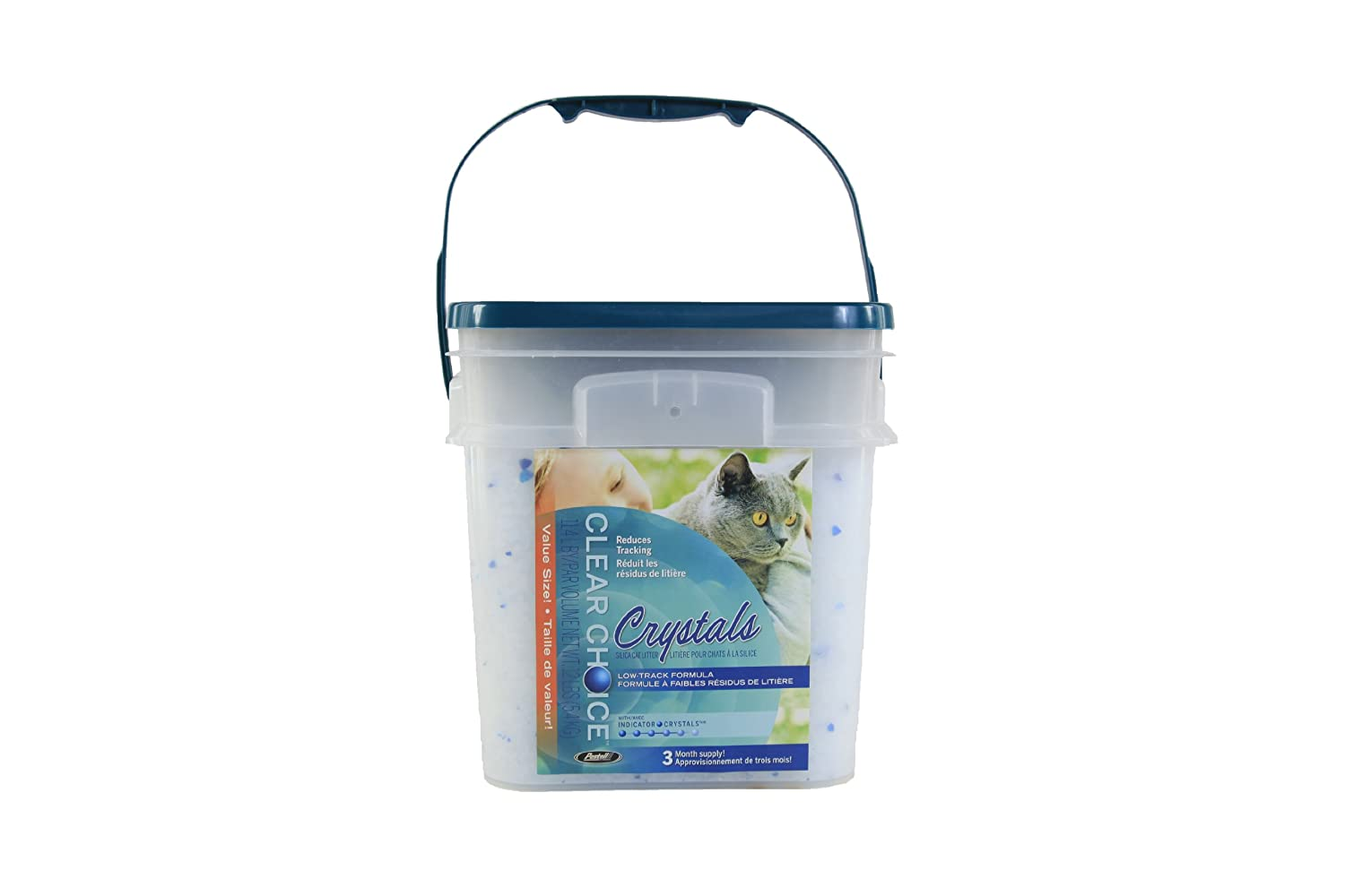Clear Choice Silica Crystals Cat Litter Pail 12-Pound