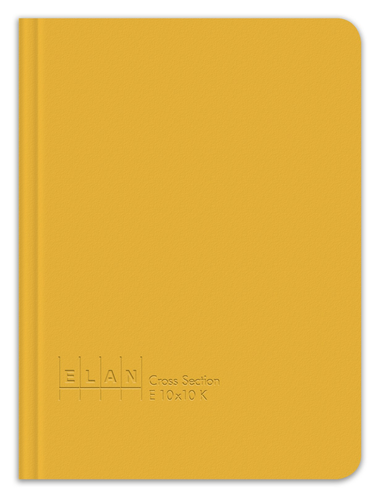 Elan Publishing Company E10x10K King Size Cross Section Book 6 ½ x 8 ½, Yellow Cover (Pack of 12)